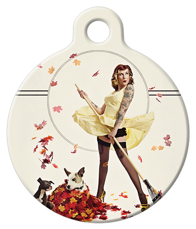 DOG TAG: Autumn Leaves