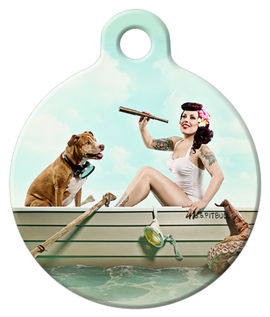 DOG TAG: S.O.S. Pitbull Dog Tag featuring Little Darling & Baxter Bean