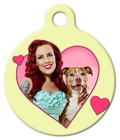 DOG TAG: Little Darling & Baxter Bean Smoochy Poochie Dog Tag