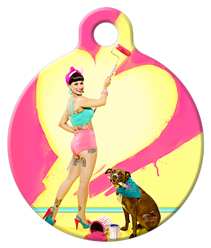 DOG TAG: Lovely Painter