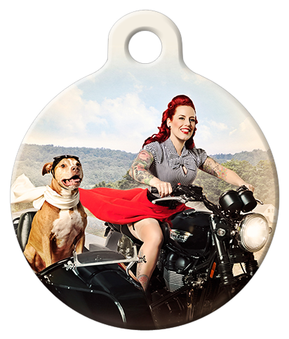 DOG TAG: Motorcycle Mama