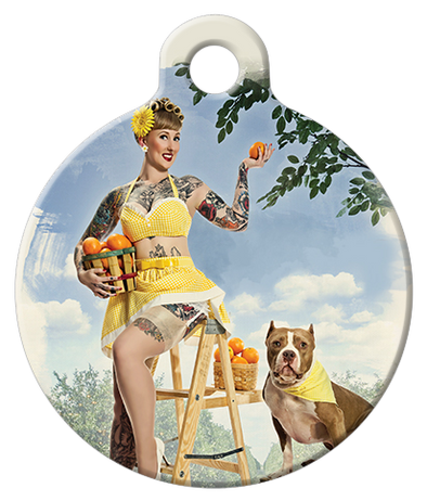 DOG TAG: Florida Orange