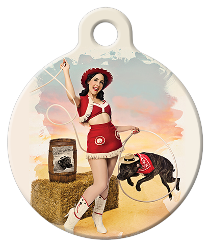 DOG TAG: Texas Cowgirl