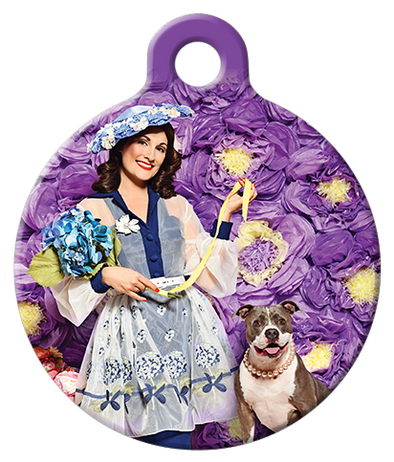 DOG TAG: Frilly Florist Dog Tag