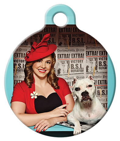 DOG TAG: Little Miss Newsie Dog Tag