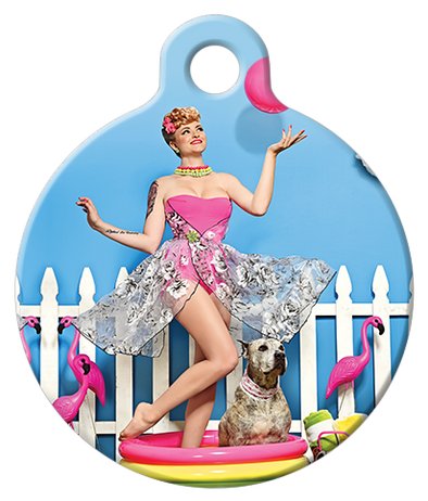 DOG TAG: Backyard Pool Party Dog Tag
