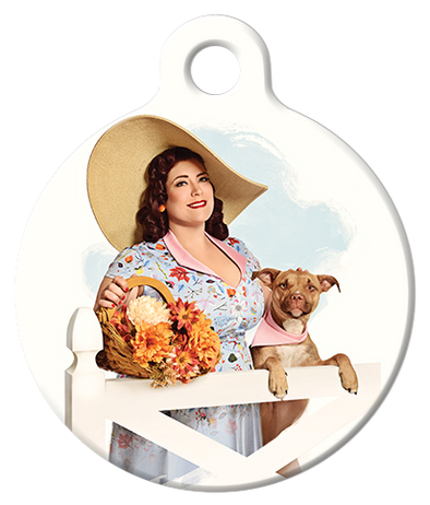 DOG TAG: Flower Basket Pinup