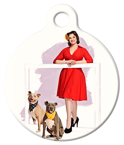 DOG TAG: Female Frame Pinup