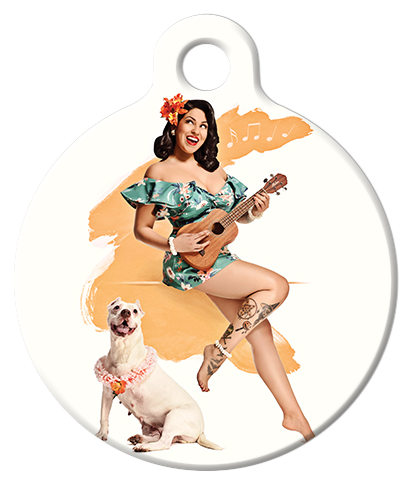 DOG TAG: Hula Hottie Pinup