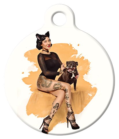 DOG TAG: Black Cat Pinup