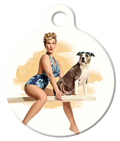 DOG TAG: Surfer Sweetie Pinup