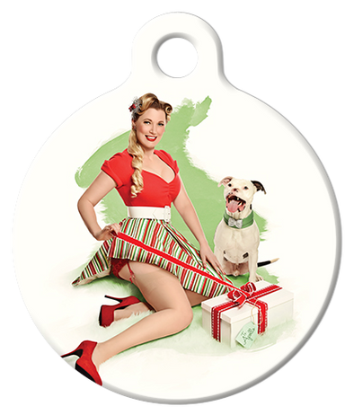 DOG TAG: Christmas Wrapper Pinup
