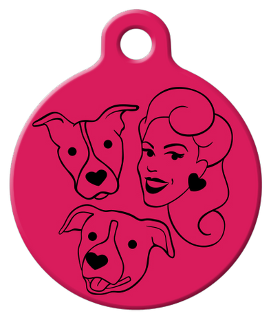 DOG TAG: PFPB Black Logo on Pink