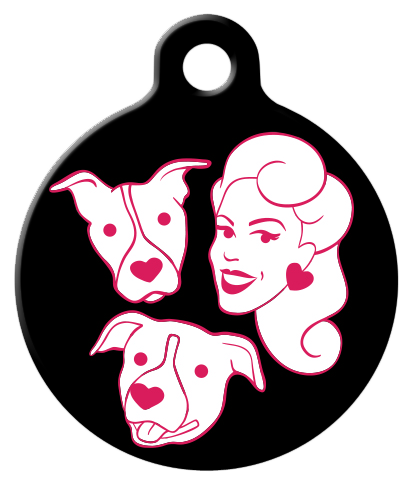 DOG TAG: PFPB Pink Logo on Black
