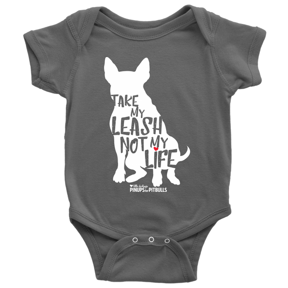 Kids | Take My Leash Not My Life Silhouette | Onesie