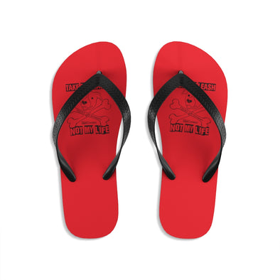 Unisex | Educate Don't Discriminate (BAX TO THE BONE)  | Flip-Flops