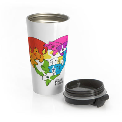 Stainless Steel Travel Mug | PRIDE | Love Knows No Breed