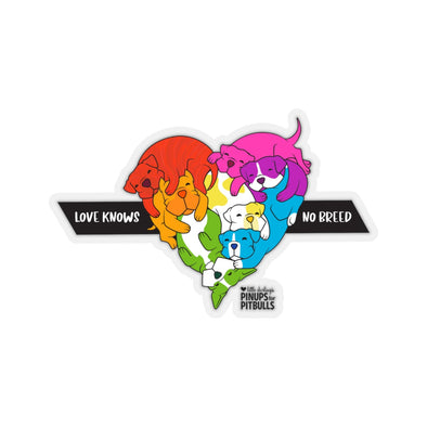 Kiss-Cut Stickers | Love Knows No Breed | PRIDE