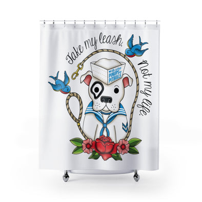 Shower Curtains | Take My Leash (Sailor)