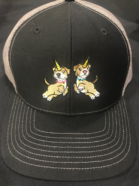 HAT | Piticorn Embroidered Trucker Hat (GREY)