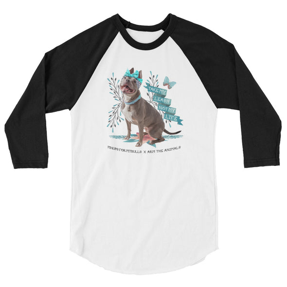 Unisex | Arm The Animals x Pinups For Pitbulls | 3/4 Sleeve Raglan Shirt