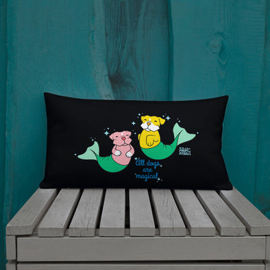 Premium Pillow | Pit Bull Mermaid | Merbull
