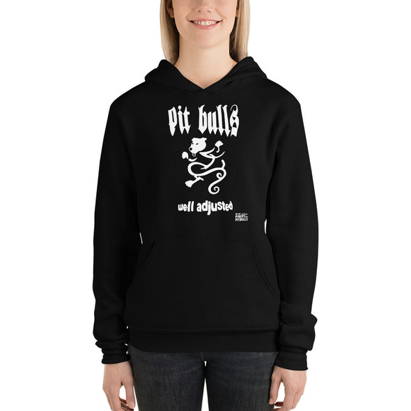 Unisex hoodie | Pit Bulls Well Adjusted NYHC