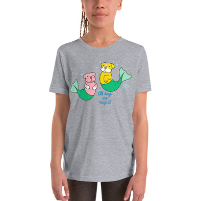 Youth Short Sleeve T-Shirt | Pit Bull Mermaid | Merbull