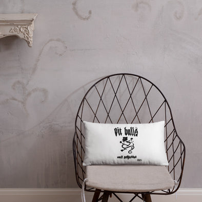 Throw Pillow | Pit Bulls Well Adjusted NYHC