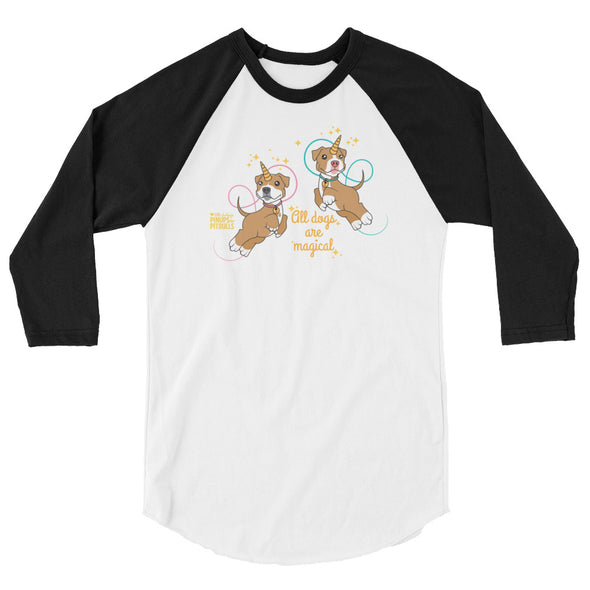 Unisex | All Dogs Are Magical (Piticorn) | 3/4 Sleeve Raglan Shirt
