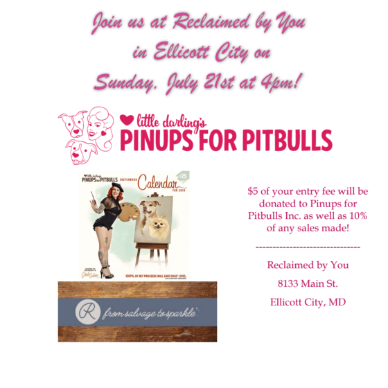 Painting with Pinups for Pitbulls (Ellicott City, MD): ENTRY FEE ONLY
