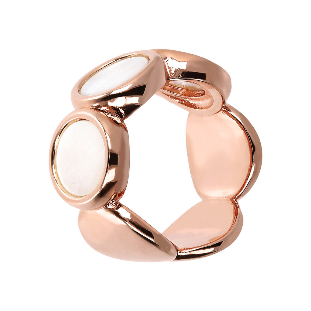 ALBA 8MM FLAT DISC STONE RING - WSBZ01756
