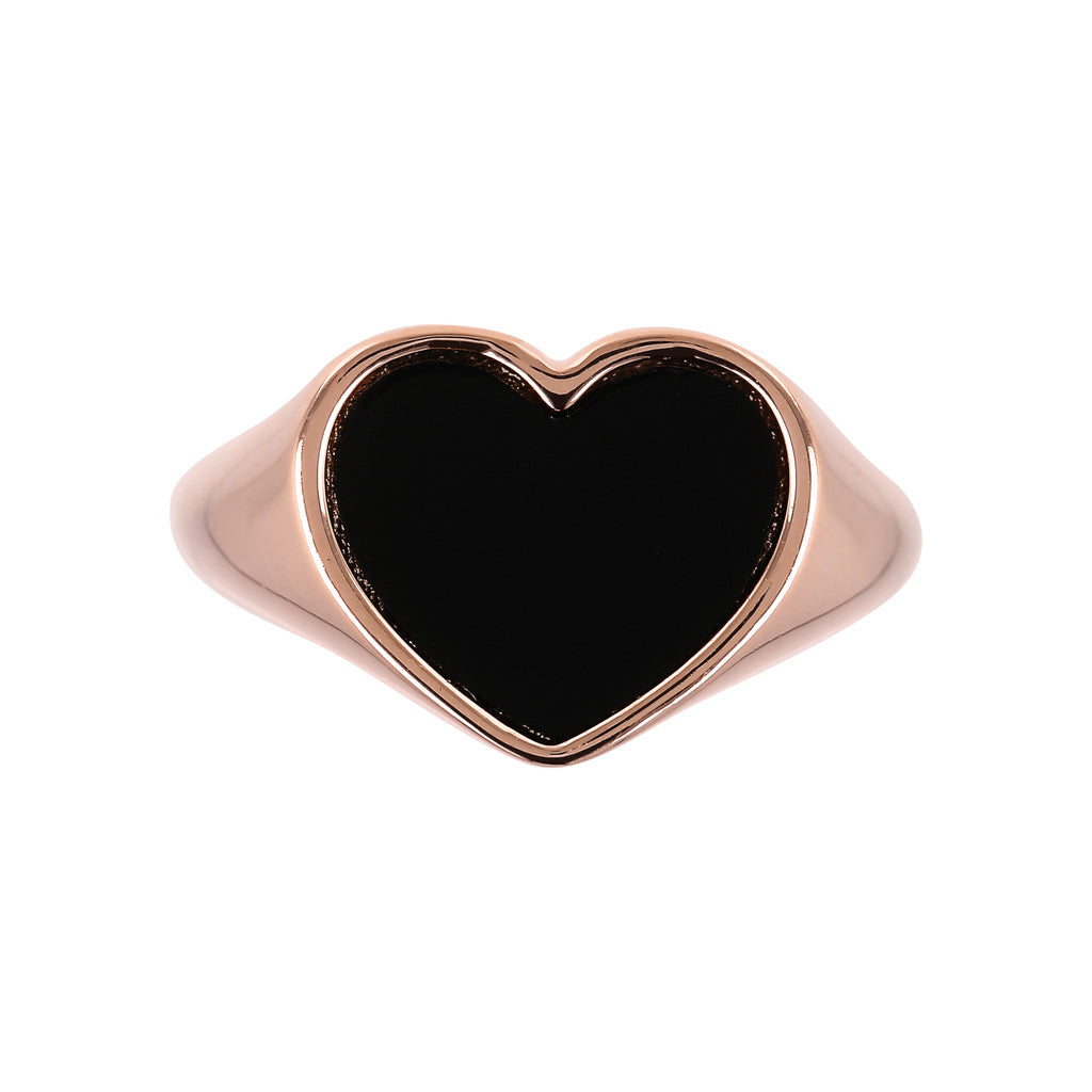 montatura del ALBA HEART GEMSTONE POLISHED RING - WSBZ01729 con ONICE