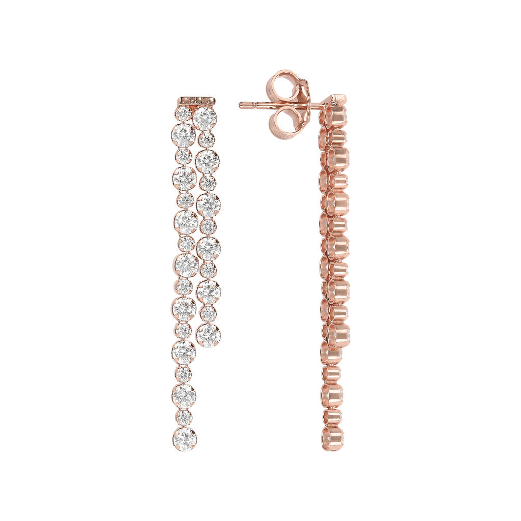 ALTISSIMA ALTERNATE TENNIS GEMSTONE EARRINGS - WSBZ01589 frontale e laterale