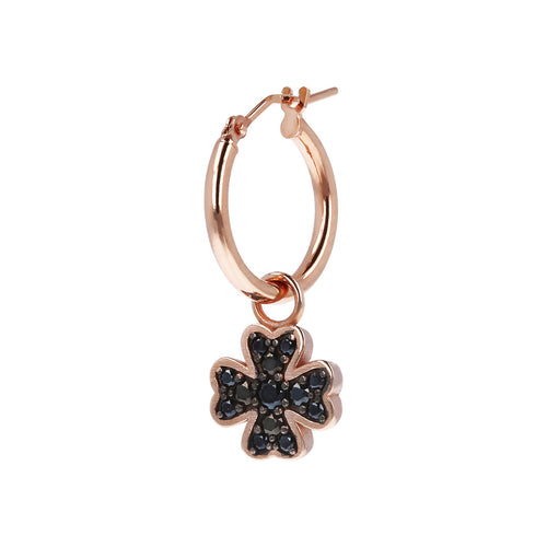 ALTISSIMA CLOVER cz element with HOLE - WSBZ01613 con SPINELLO NERO