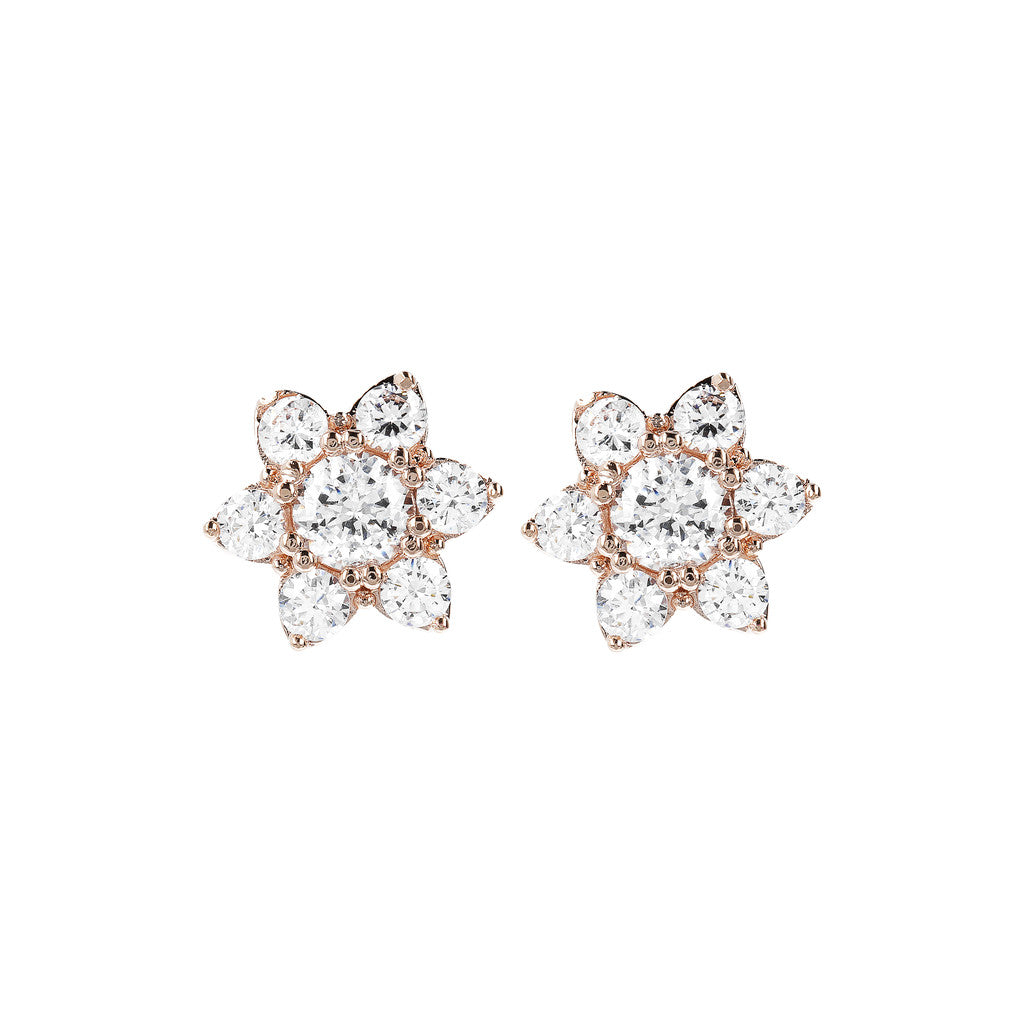 ALTISSIMA CZ GEMSTONE FLOWER EARRINGS - WSBZ01648