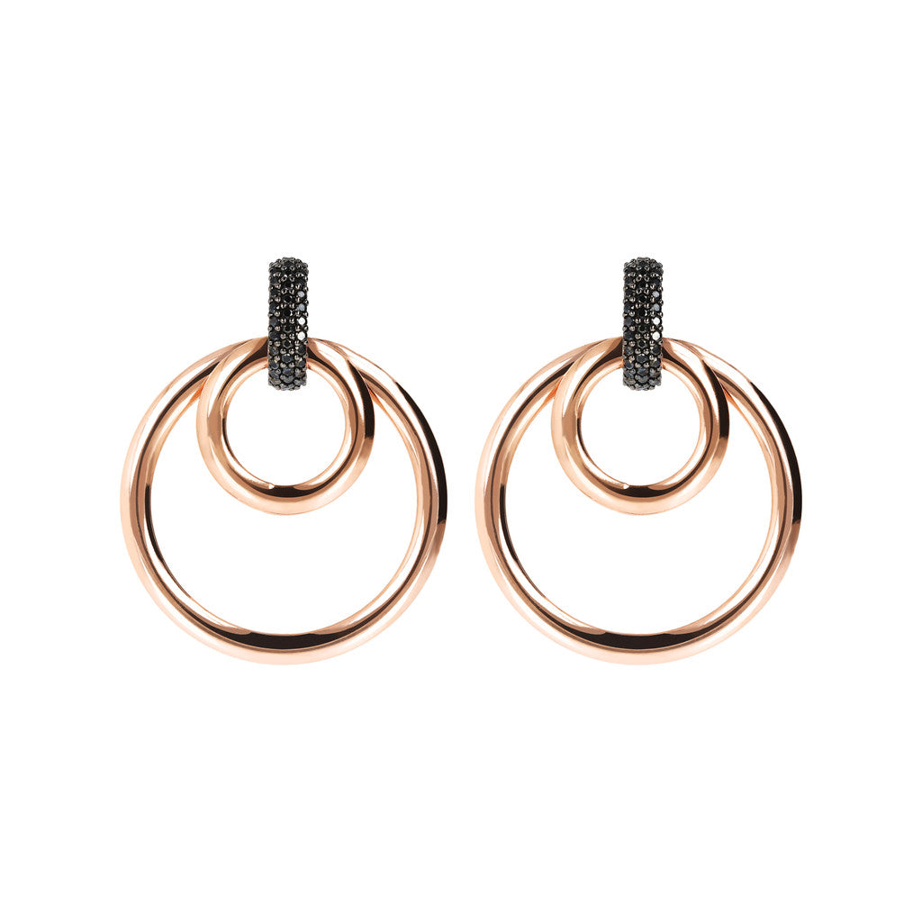 ALTISSIMA MULTICIRCLE EARRING WITH PAVè TOP - WSBZ01676 con SPINELLO NERO