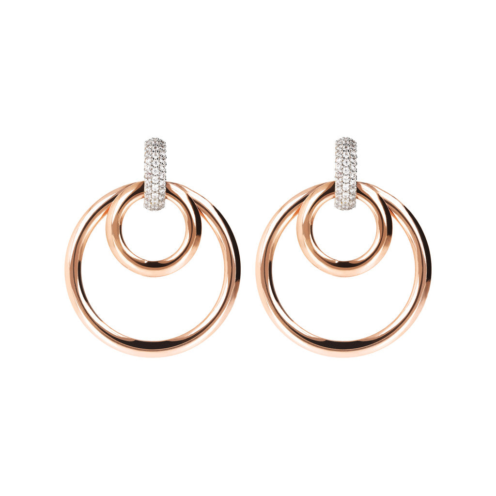 ALTISSIMA MULTICIRCLE EARRING WITH PAVè TOP - WSBZ01676