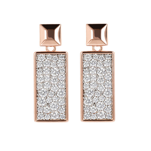 ALTISSIMA RECTANGULAR DANGLE EARRING PAVè - WSBZ01600