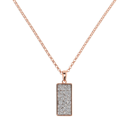 ALTISSIMA RECTANGULAR WITH CZ GEMSTONE PENDANT - WSBZ01652