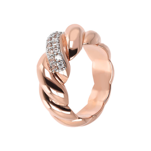 Bronzallure | Anelli | ALTISSIMA san marco polished ring with cz - WSBZ01739