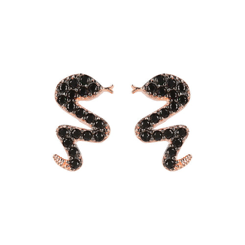 ALTISSIMA snake with cz gemstone earrings - WSBZ01637 con SPINELLO NERO