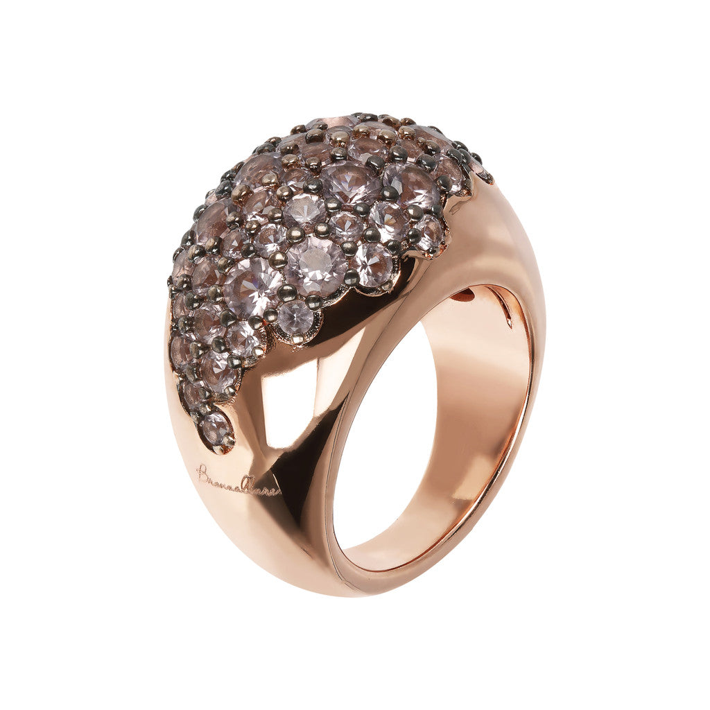 AURORA ALTISSIMA ALTISSIMA SHINY GRADUATED RING WITH CZ GEMSTONE - WSBZ01568 con MORGANITE