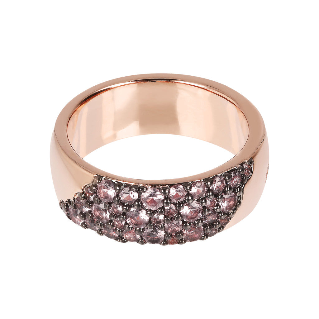 montatura del AURORA ALTISSIMA BAND RING WITH CZ PAVè - WSBZ01567 con MORGANITE