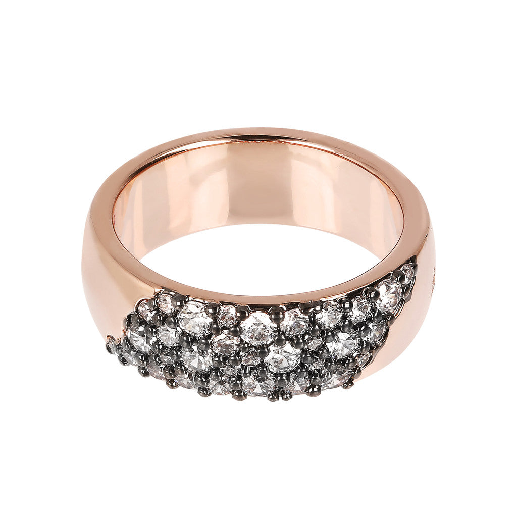 montatura del AURORA ALTISSIMA BAND RING WITH CZ PAVè - WSBZ01567
