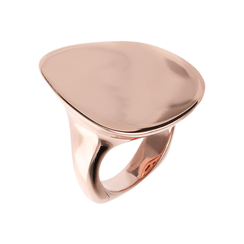 Anello Design Lucido in Golden Rose