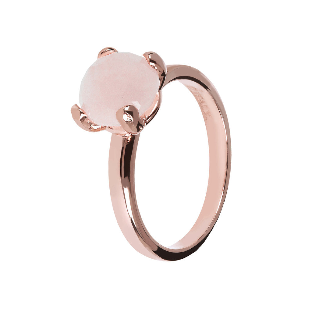 Anello Mini con QUARZO ROSA