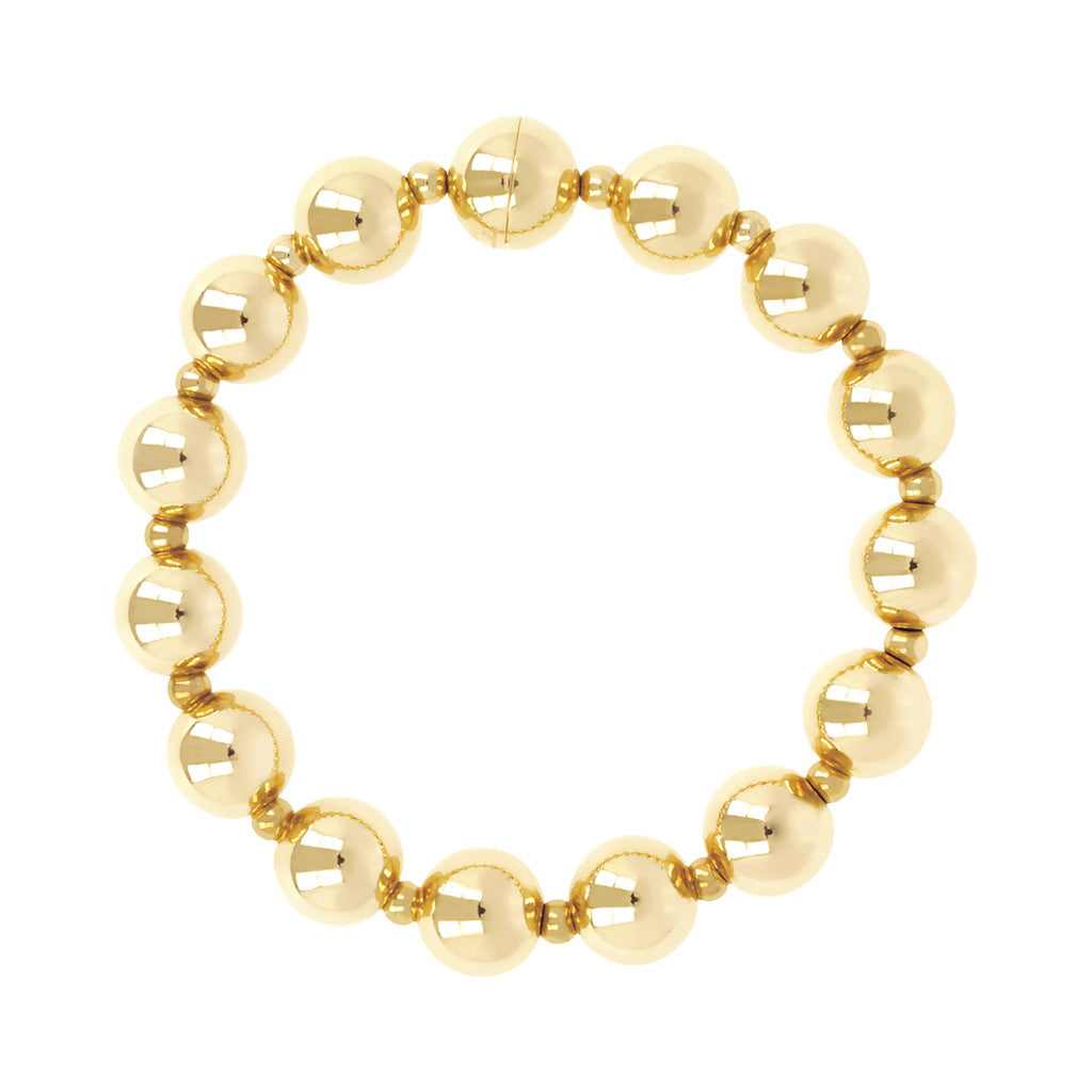 BRACCIALE CON PALLINE YELLOW GOLD