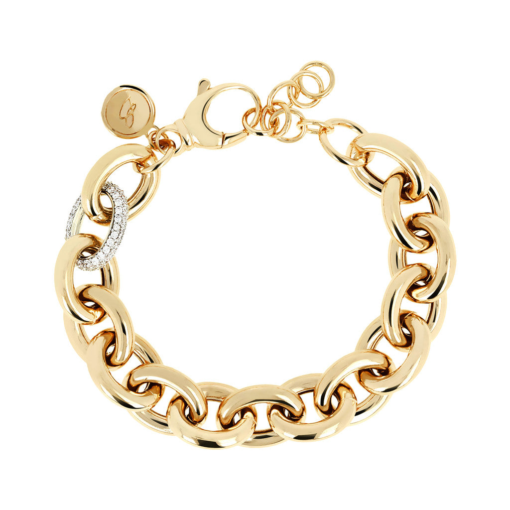 BRACCIALE SHINY MARQUISE YELLOW GOLD
