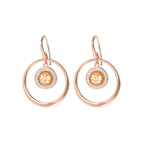 CASSIS-CAMMEO CAMEO LIMITED EDITION CAMEO 8 MM BUTTERFLY CIRCLES EARRING - WSBZ01662